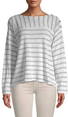 Eileen Fisher Heathered Striped Sweater