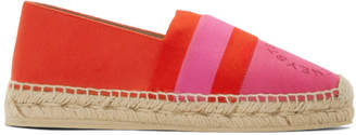 Stella McCartney Red and Pink Striped Espadrilles