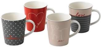 ED Ellen Degeneres by Royal Doulton ED Signature Porcelain Mugs (Set of 4)