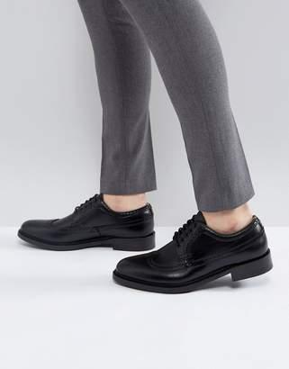 Aldo Branton Leather Brogue Shoes In Black