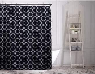 Duck River Alyssa 70 in. W x 72in. L Polyester Shower Curtain in Navy
