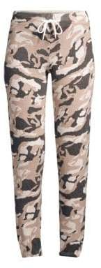 Monrow Knit Camo Wool& Cashmere Sweatpants