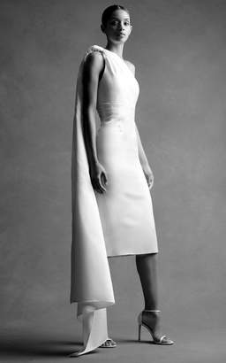Brandon Maxwell Bridal M'O Exclusive: Mirror Pleated Midi Dress