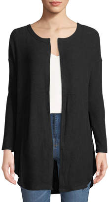 Sweet Romeo Brushed Jersey Seamed-Back Cardigan