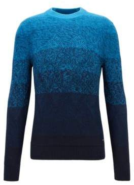 BOSS Hugo Degrade sweater Aran-knit detailing M Dark Blue