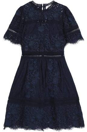 Cotton-Blend Lace Dress