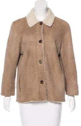 Michael Kors Suede Button-Up Jacket