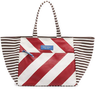 Henri Bendel Striped Canvas Large Tote