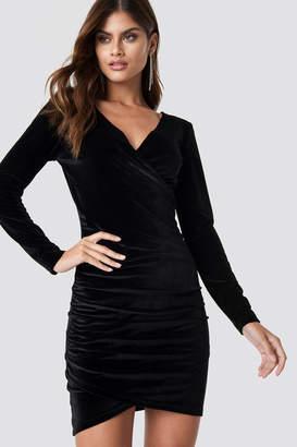 Rut & Circle Rut&Circle Wrinkle Velvet Dress DK Navy