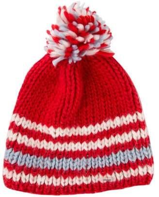 7b12f4d38ac Red Pom Pom Hat - ShopStyle
