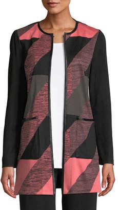 Misook Colorblock Knit Topper Jacket