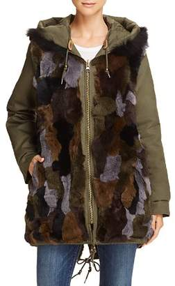 Aqua Reversible Fur-Lined Anorak - 100% Exclusive