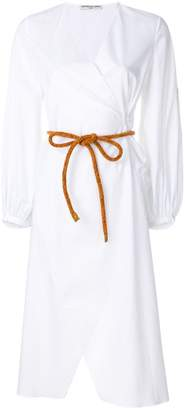 Leroy Veronique rope belt longline shirt