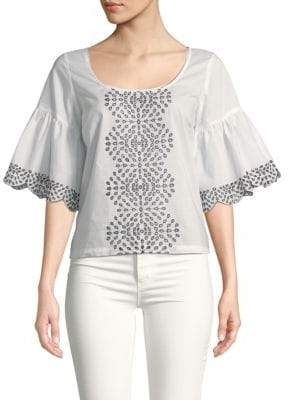 Plenty by Tracy Reese Eyelet Embroidery Cotton Top