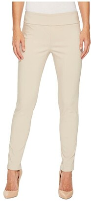 Elliott Lauren Control Stretch Pull-On Ankle Pants with Back Slit Detail