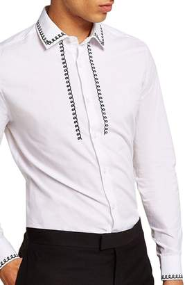 Topman Phone Cable Dress Shirt