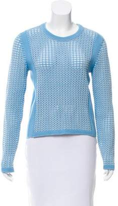 Tory Burch Scoop Neck Long Sleeve Sweater
