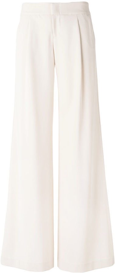 Alice + OliviaAlice+Olivia pleat detail palazzo trousers