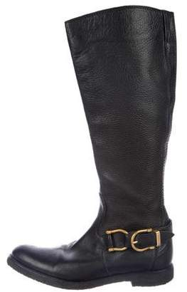 Burberry Leather Knee-High Boots