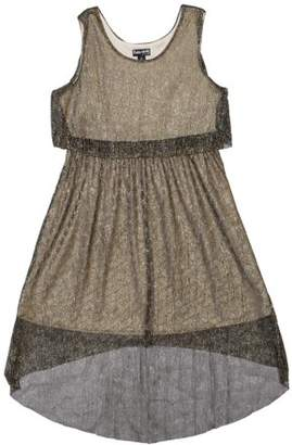 Pogo Club Girls' Fancy Crinkle Mesh Metallic Dress