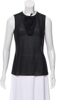 Wolford Sleeveless Pleat-Accented Top