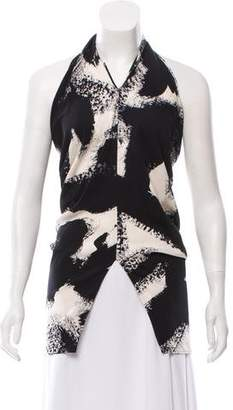 Michael Kors Printed One-Shoulder Tunic