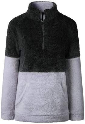 Goodnight Macaroon 'Aspen' Two-Tone Half-Zip Fleece Pullover (3 Colors)