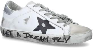 Golden Goose Leather Let a Dream Fly Superstar Sneakers