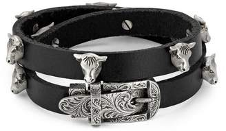 Gucci Anger Forest double wrap leather bracelet