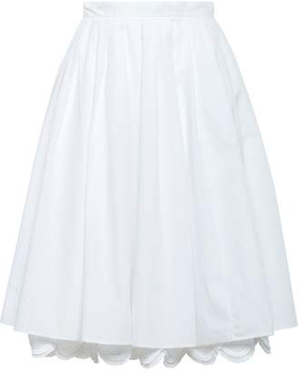 Prada high-waist flared skirt