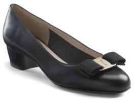 Salvatore Ferragamo Vara Pumps $550 thestylecure.com