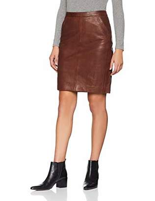 More & More Women's Lederrock Skirt, (Copper Brown 0275)