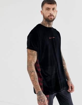 N. Liquor Poker t-shirt in plaid velour
