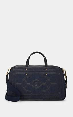 Fontana Milano Women's Sunday Leather-Trimmed Denim Duffel Bag - Denim