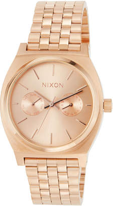 Nixon 37mm Time Teller Deluxe Bracelet Watch, Rose Golden