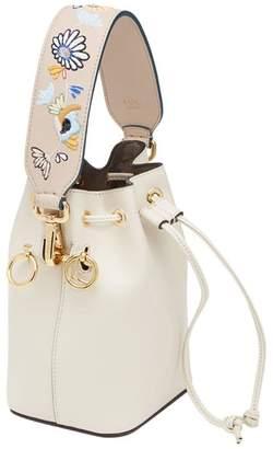Fendi embroidered handbag strap
