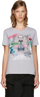 Kenzo Grey Limited Edition 'Flyer x Tiger' T-Shirt $155 thestylecure.com