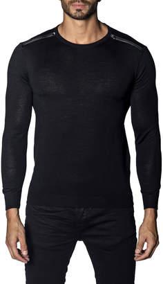 Jared Lang Men's Long-Sleeve Zip Sweater, Black
