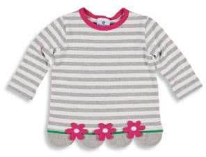 Florence Eiseman Little Girl's Floral Striped Top