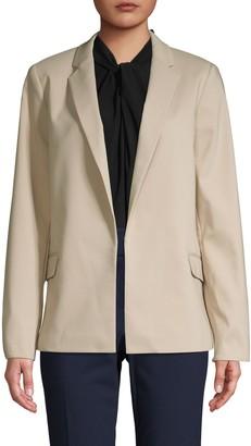 Calvin Klein Collection Notch Collar Open-Front Jacket