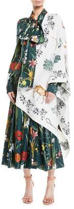 Oscar de la Renta Enchanted Forest Wool/Silk Wrap