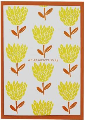 Artcadia - Letterpress My Beautiful Wife Greetings Card