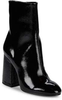 Ash Feel Patent Leather Ankle Boots