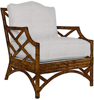 David Francis Furniture Chinese Chippendale Lounge Chair
