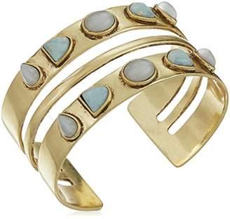 Lucky Brand Women's Double Stone Cuff Bracelet