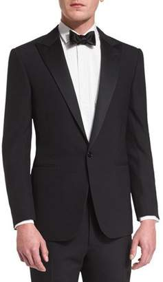 Ralph Lauren Anthony Peak-Lapel One-Button Wool Tuxedo, Black $2,995 thestylecure.com