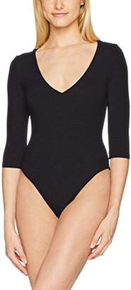 Felina Women's Loungewear Modal Deep V Neck Bodysuit