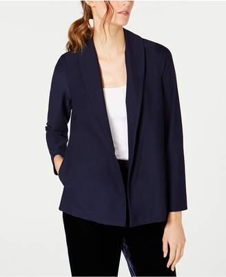 Eileen Fisher Shawl-Collar Washable Crepe Jacket