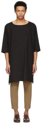 Jan-Jan Van Essche Black Long Woven T-Shirt