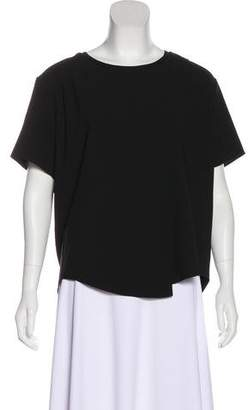 Theyskens' Theory Overlay Short Sleeve Top